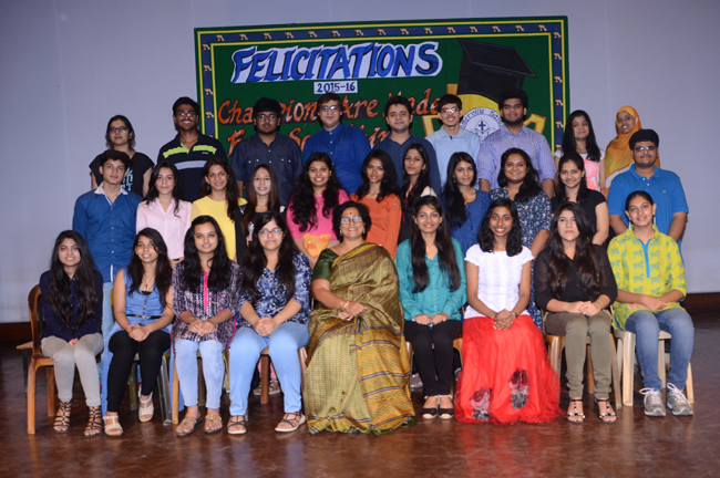 Felicitation Ceremony For Class XII CBSE Toppers(2015-16)